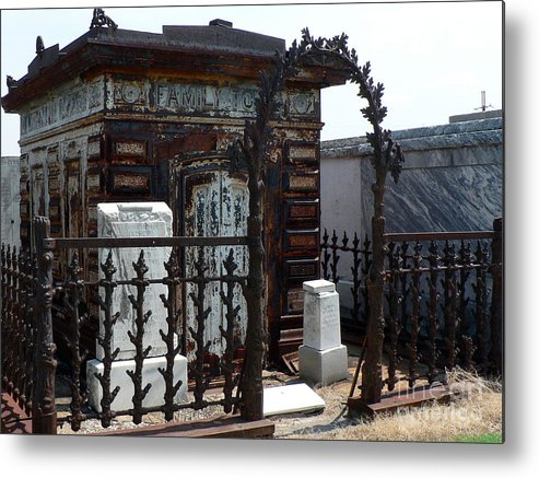 New Orleans Metal Print featuring the photograph Nola Family Tomb by Joy Tudor