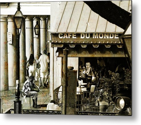 New Orleans Metal Print featuring the photograph Nola Jazz Man by Nancy Forehand