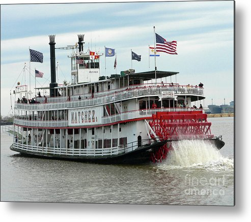 New Orleans Metal Print featuring the photograph Nola Natchez Riverboat by Joy Tudor