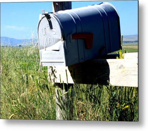 Mailbox Metal Print featuring the photograph Note For You by Diane Wallace