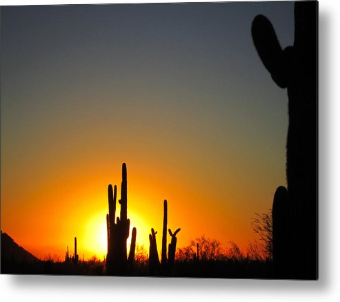 Sun Metal Print featuring the photograph Nuclear Sunset by Nelson Strong