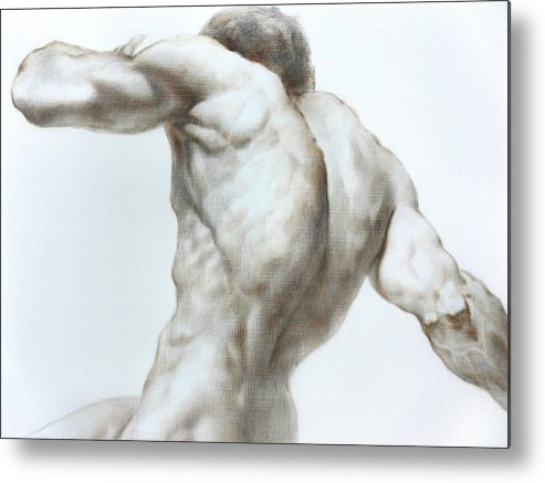 Man Metal Print featuring the painting Nude1c by Valeriy Mavlo