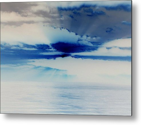 Seascapes Metal Print featuring the photograph Ocean Blue Monday by James Harper