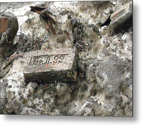 Old Brick St-peterburg History Metal Print featuring the photograph Old Brick by Yury Bashkin