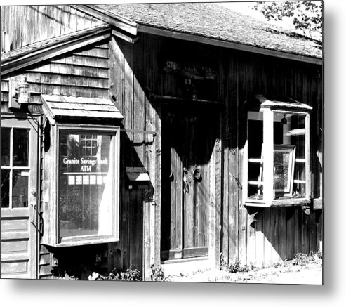 Photo Metal Print featuring the digital art Old New England Town Shack by Donna Thomas