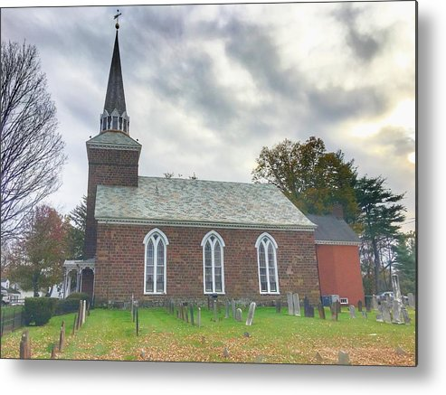 This Is A Photo Of The Old Reformed Church In Paramus New Jersey Metal Print featuring the photograph Old Reform Church by William Rogers