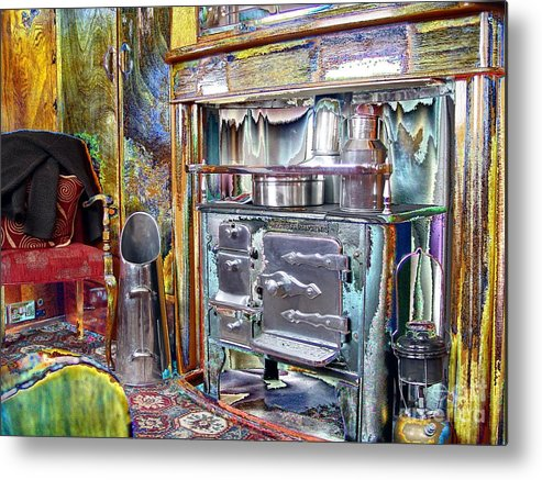 Old Metal Print featuring the photograph Old Stove by John Johnson