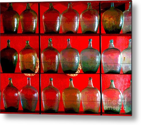 Darian Day Metal Print featuring the photograph Old Tequila Jugs By Darian Day by Mexicolors Art Photography