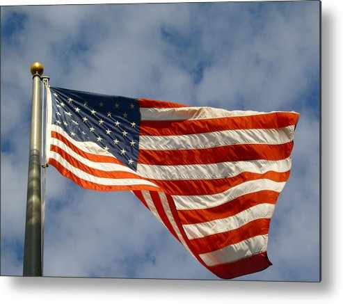 Patriotism Metal Print featuring the photograph Ole Glorious Sky by Larry Underwood