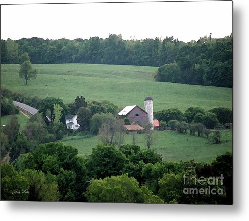 Hills Metal Print featuring the photograph On The Farm by Judy Waller