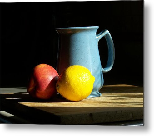 Still Life Metal Print featuring the photograph On The Table 1- Photograph by Jackie Mueller-Jones