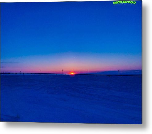 Sunrise Metal Print featuring the photograph On The Way Home by Shane Schwark