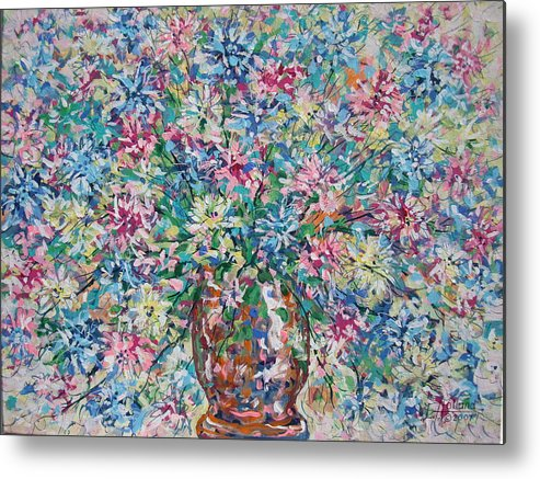 Painting Metal Print featuring the painting Opulent Bouquet. by Leonard Holland