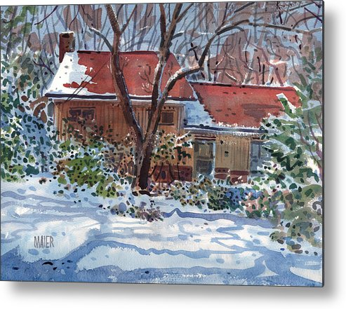 Residence Metal Print featuring the painting Our House by Donald Maier