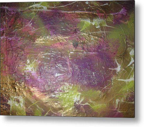 Soul Metal Print featuring the painting Our Ruthless Soul by Paula Andrea Pyle