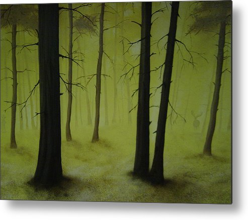 Landscape Metal Print featuring the painting Out Of The Woods by Ronnie Jackson