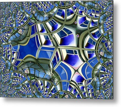 Windows Metal Print featuring the photograph Out The Looking Glass by Tim Allen
