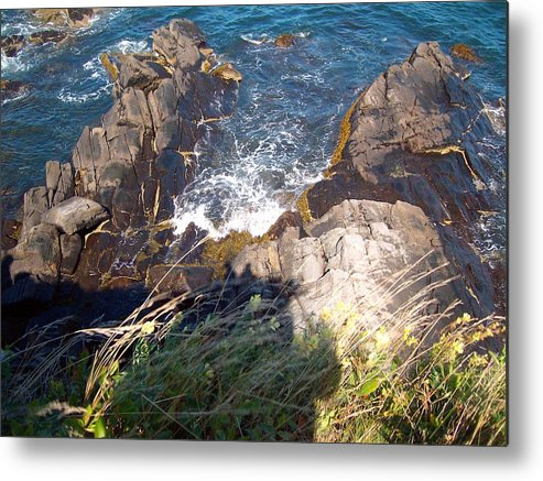Water Metal Print featuring the photograph Over The Edge by Samantha Gilbert