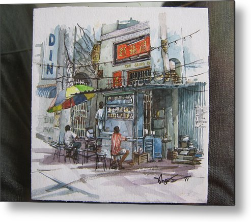Historical Building Metal Print featuring the painting Over There by Richard Ong