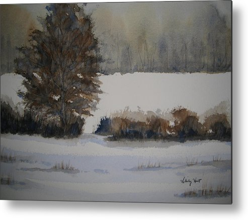 Landscape Metal Print featuring the painting Overcast by Shirley Braithwaite Hunt