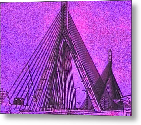 Abstract Metal Print featuring the painting p1040151b Zachon Bridge by Ed Immar