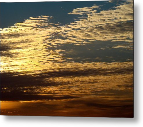 Sky Metal Print featuring the photograph Painted Sky Four by Ana Villaronga