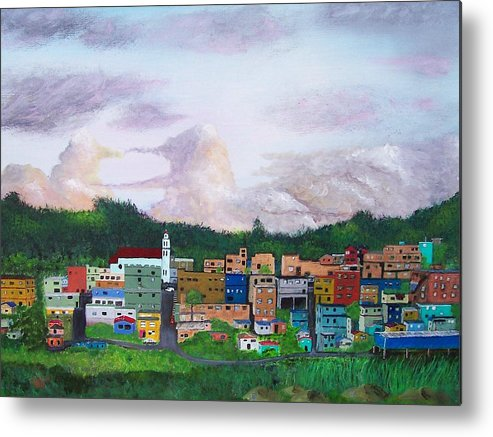 Painting The Town Metal Print featuring the painting Painting The Town by Tony Rodriguez