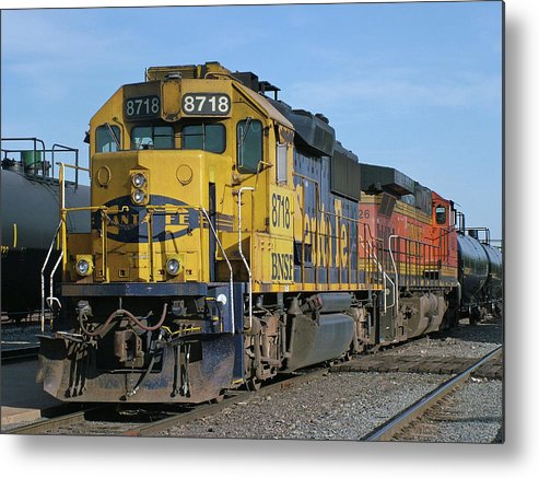 Diesel Train Metal Print featuring the photograph Paired Up by Ken Smith