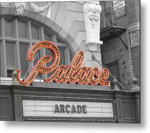 Photo Metal Print featuring the photograph Palace Theatre by Audrey Venute