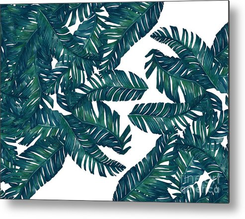 Summer Metal Print featuring the photograph Palm Tree 7 by Mark Ashkenazi