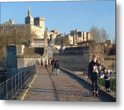 Pope Palace Metal Print featuring the photograph Papal Palace Avignon by Charles Ridgway