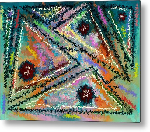 Contemporary Metal Print featuring the painting Parallel Axiom by Rafi Talby