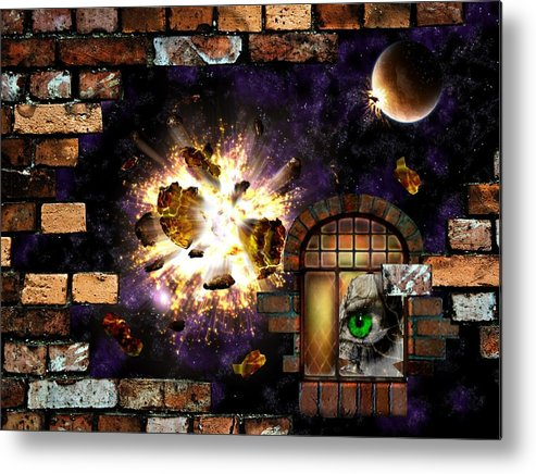 Parallel Dimensions Metal Print featuring the mixed media Parallel Dimensions by Animi Dawn