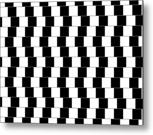 Optical Illusion Metal Print featuring the digital art Parallel Lines by Michael Tompsett
