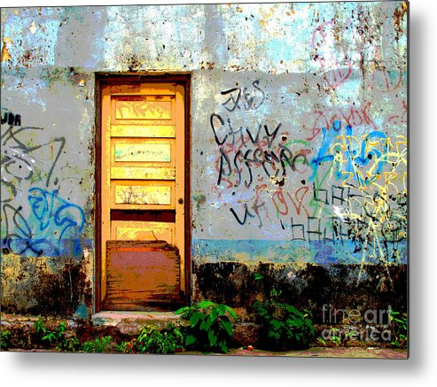 Darian Day Metal Print featuring the photograph Passersby By Darian Day by Mexicolors Art Photography