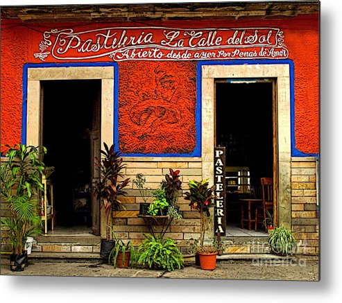 Darian Day Metal Print featuring the photograph Pastileria by Mexicolors Art Photography