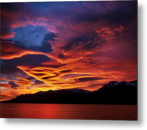 Patagonia Metal Print featuring the photograph Patagonian Sunrise by Joe Bonita