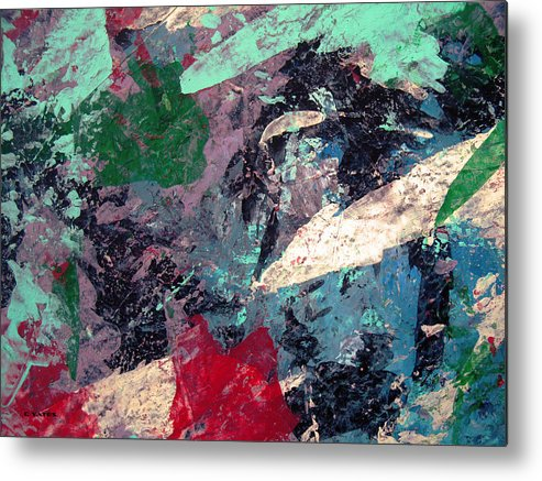 Abstract Metal Print featuring the painting Patchwork by Charles Yates