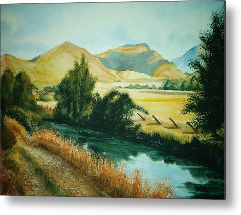 Landscape Metal Print featuring the painting Path To Braithwaite by Shirley Braithwaite Hunt