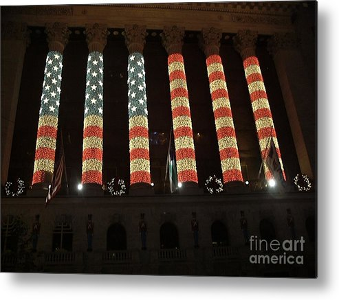 Americana Metal Print featuring the photograph Patriotic Exchange by William Thomas