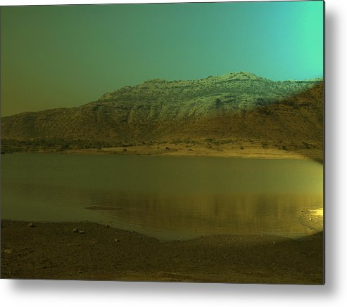 Nature Metal Print featuring the painting Peace Of Nature by Archana Dehadrai