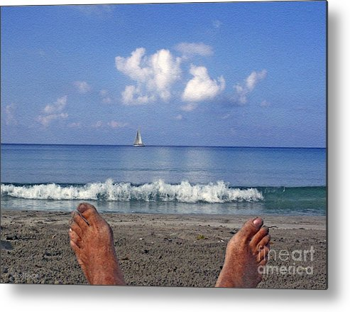 Sea Metal Print featuring the photograph Peaceful Existence by Dee Flouton