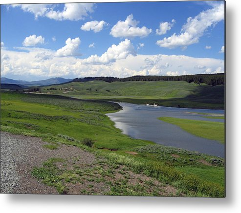 Lake Metal Print featuring the photograph Peaceful Lake At Yellowstone by Diane Wallace