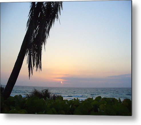 Ocean Metal Print featuring the photograph Peaceful Morning by Peggy King