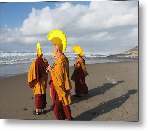 Tibetan Monks Metal Print featuring the photograph Peaceful Scene by Claire McGee