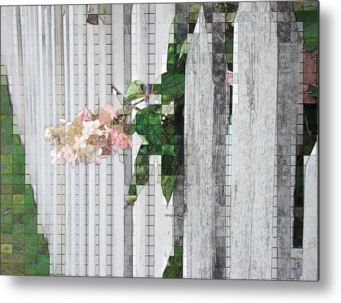 Photgraph Metal Print featuring the photograph Pencil Mosaic by Tingy Wende