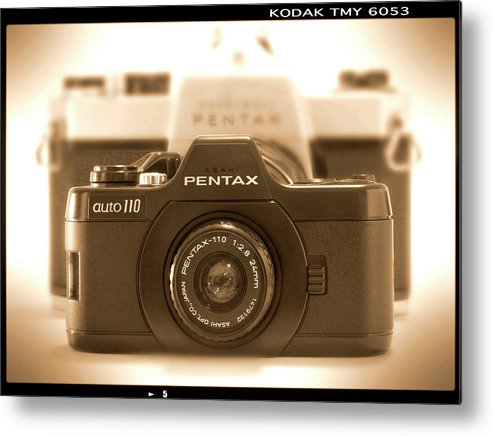 Vintage Pentax Metal Print featuring the photograph Pentax 110 Auto by Mike McGlothlen