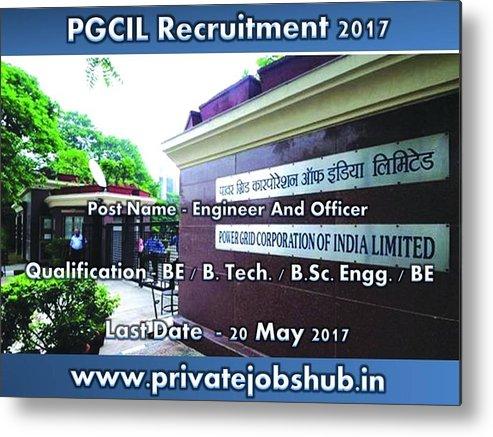 Pgcil Recruitment Metal Print featuring the photograph Pgcil Recruitment by Private Jobs Hub