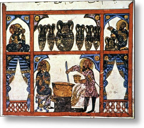 13th Century Metal Print featuring the photograph Pharmacy: Arabic Ms by Granger