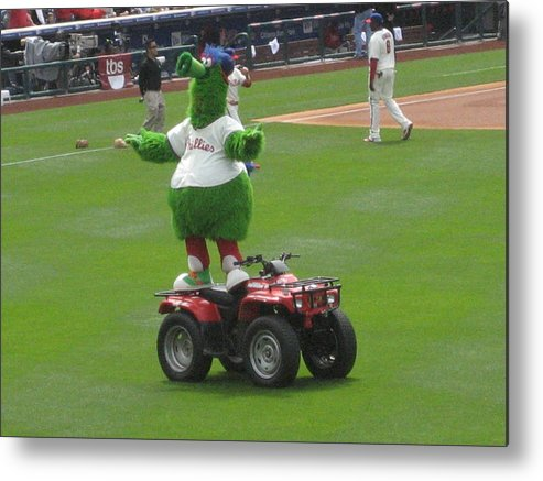 Phillis Metal Print featuring the photograph Phillie Phanatic by Jennifer Sweet
